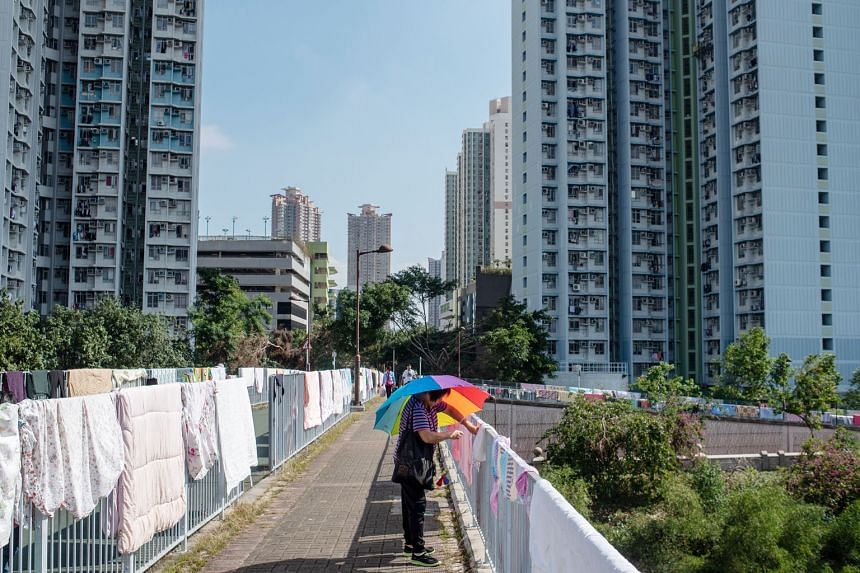 Public housing in the Tin Shui Wai district in Hong Kong. Despite a dip in the past four months, Hong Kong's home prices are almost 50 per cent higher than five years ago, according to Centaline Property Agency. The government said on Tuesday that th