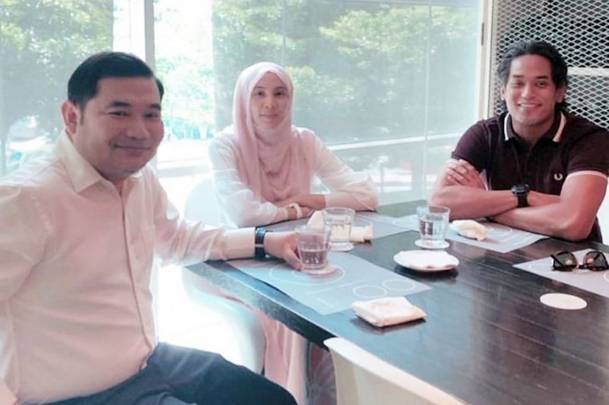 Mr Khairy Jamaluddin (at right) posted on his Instagram account a photo of his meeting with Mr Rafizi Ramli and Ms Nurul Izzah Anwar at a bistro in Bangsar. He took down the photo later.