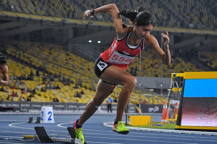 Dipna Lim-Prasad getting off to a great start in last year's SEA Games 400m final in Kuala Lumpur. She clocked 54.18sec to win silver and better Chee Swee Lee's mark set at the 1974 Asian Games in Iran by nearly a second.