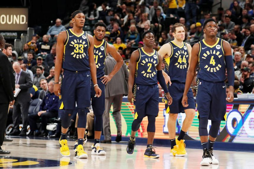 The Indiana Pacers during the third quarter against the Cleveland Cavaliers at Bankers Life Fieldhouse in Indianapolis, on Dec 18, 2018.