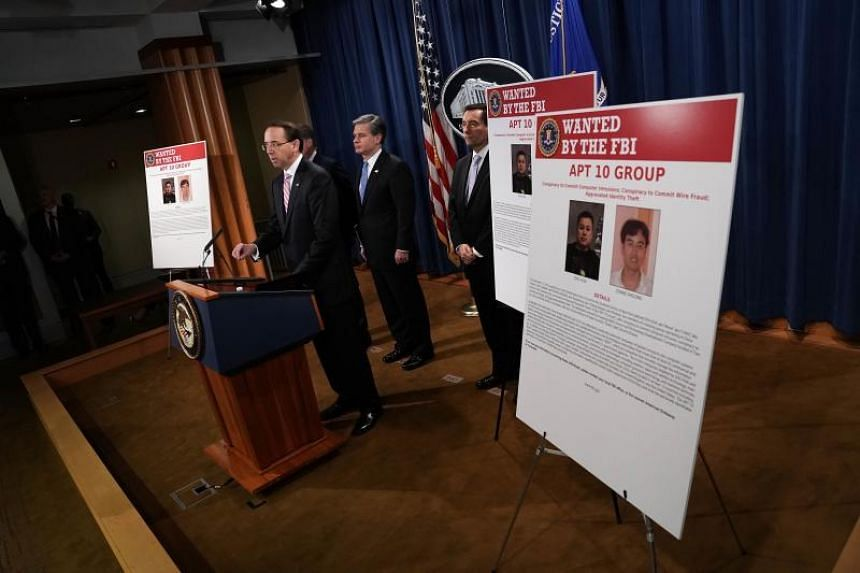 China related national security law enforcement action is announced at a news conference on Dec 20, 2018, at The Justice Department in Washington, DC.