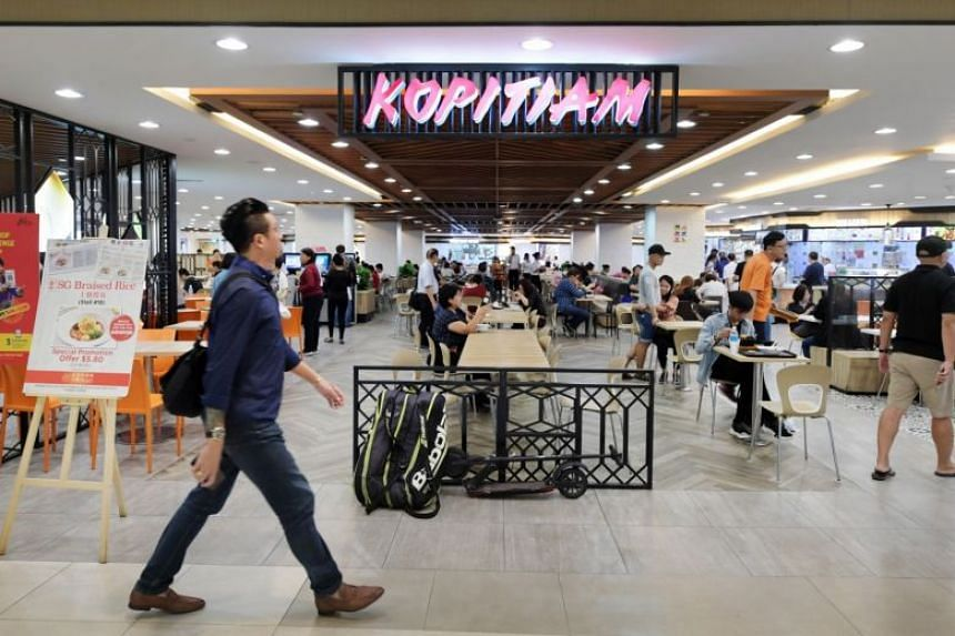 Kopitiam has 80 outlets comprising 56 foodcourts, 21 coffee shops and three hawker centres, as well as two central kitchens.