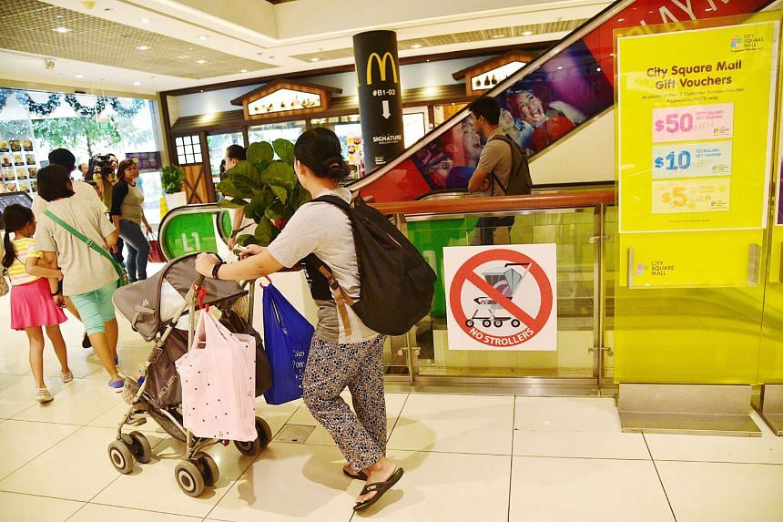 The Building and Construction Authority aims to reduce the number of stroller-related escalator incidents by encouraging operators to put up new safety posters.