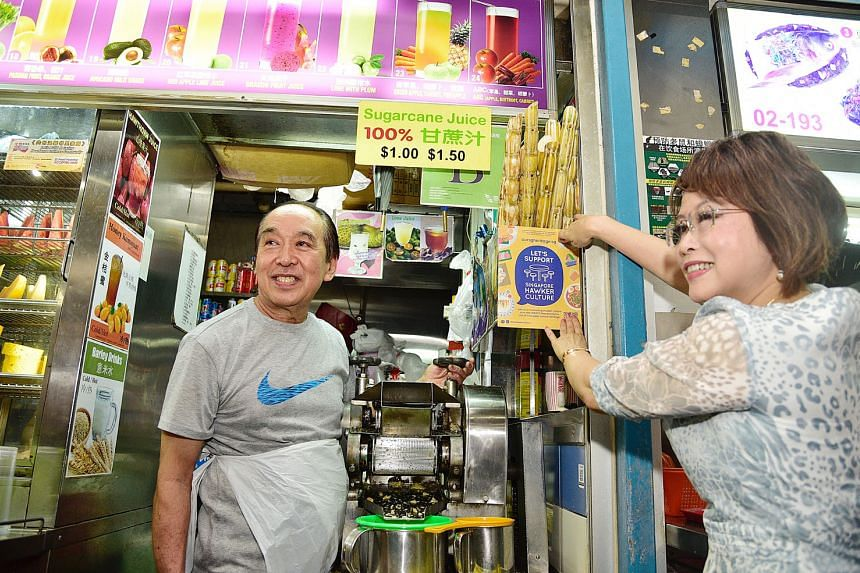 Dr Lily Neo (above), an MP for Jalan Besar GRC, was at the centre yesterday to visit the Our SG Hawker Culture exhibition and meet hawkers to thank them for their hard work.