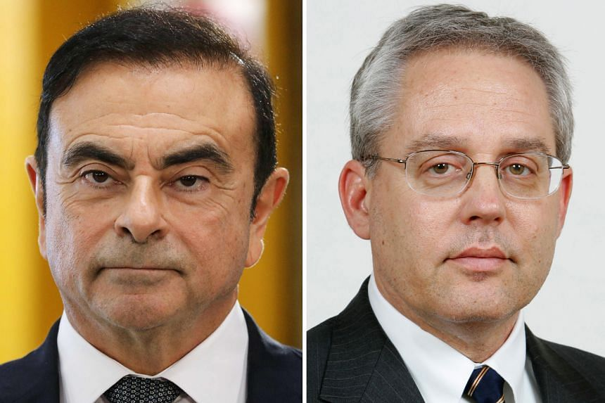 Former Nissan Motor chairman Carlos Ghosn (left) and former executive Greg Kelly face charges of alleged financial misconduct.