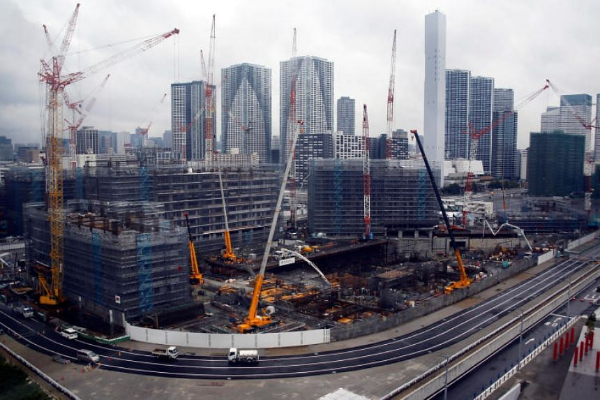 The construction site of Athletes' Village for Tokyo 2020 Olympic games, which will serve as residential apartments after the Olympics in Tokyo, Japan.