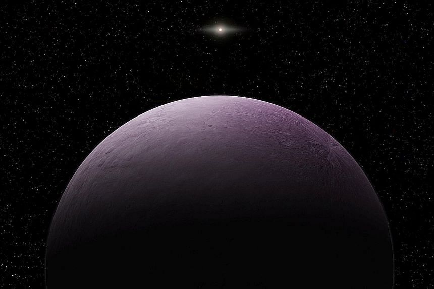 An artist's rendering of the dwarf planet 2018 VG18, nicknamed Farout.