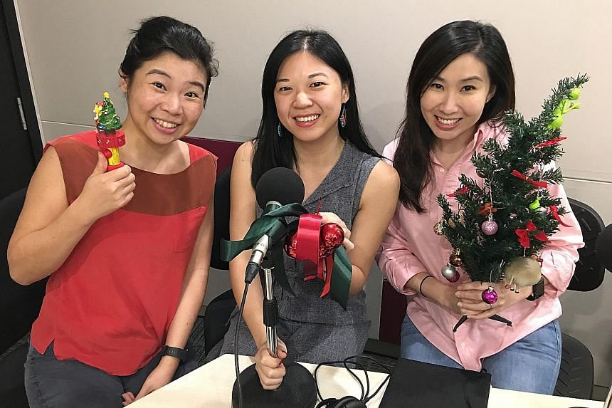 Life reporters (from left) Melissa Sim, Yip Wai Yee and Rebecca Lynne Tan suggest to readers what to eat and watch.
