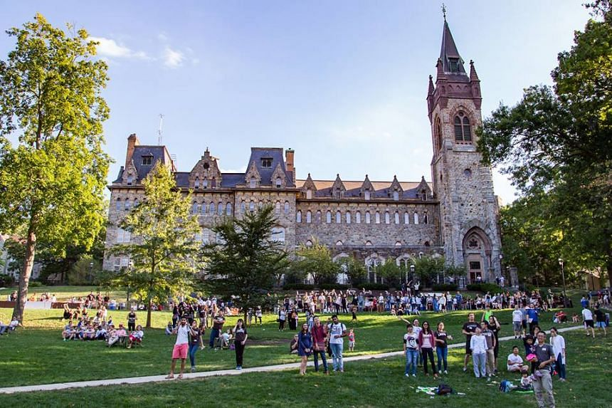 A photo of the university campus lawn from Lehigh's Facebook page.