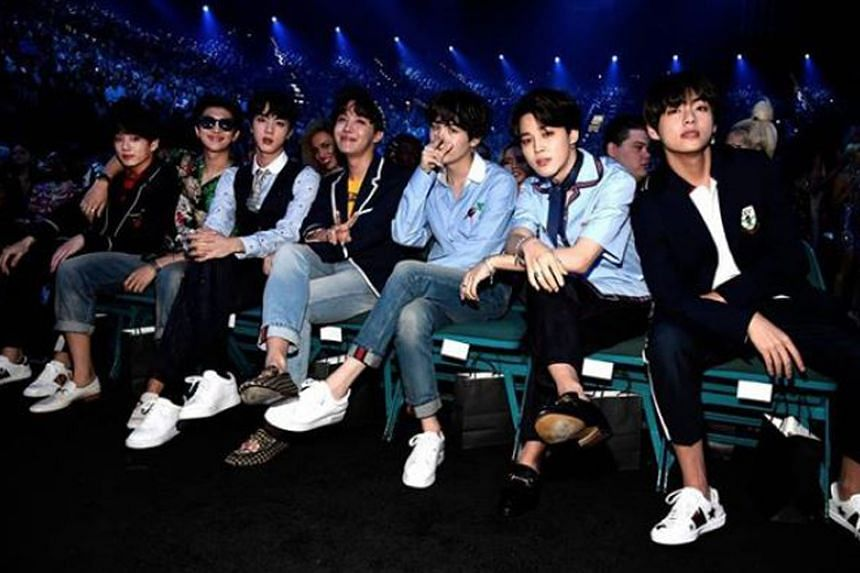 BTS were this year's most followed boy group and they also posted the most liked photo (above) of this year.