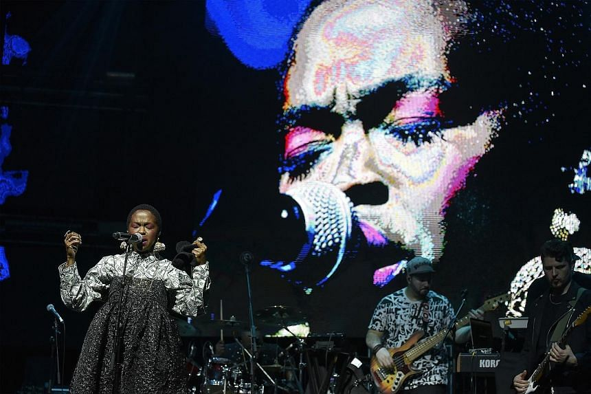 Hip-hop/soul singer Lauryn Hill (above), British pop sensation Dua Lipa (left) and rapper-singer Anderson Paak (right below) gave Singapore music fans lots to cheer about.