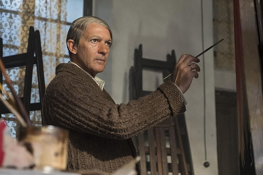 Antonio Banderas as Pablo Picasso in Genius: Picasso. Julia Roberts plays a therapist working in a programme to help US army veterans in Homecoming.