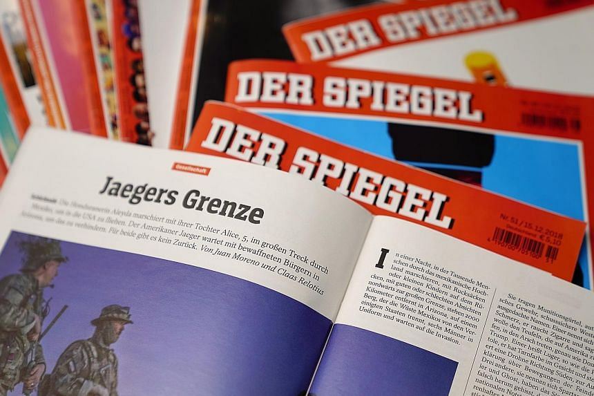 "Der Spiegel reporter Claas Relotius' cheating came to light when a colleague, who worked with him on this article headlined ""Jaegers Grenze"" (""Hunters' border""), checked on two alleged sources quoted extensively and both revealed that they had never"