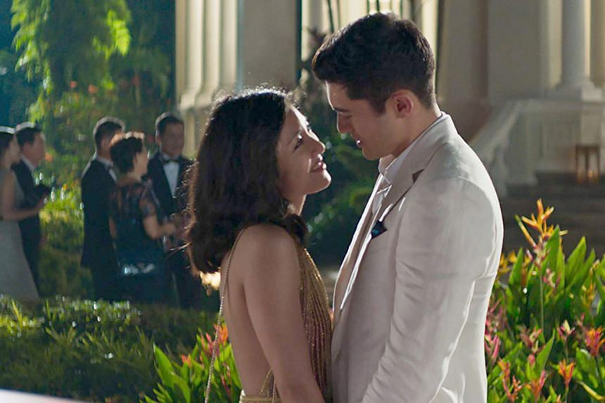 Constance Wu and Henry Golding in Crazy Rich Asians.