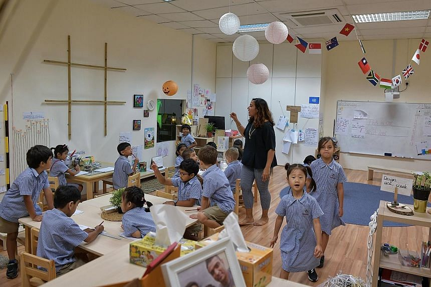 Fees at Middleton International School are capped at $18,000 a year, compared with $40,000 to $50,000 at popular international schools. Most international schools offer classes from pre-school to high school.