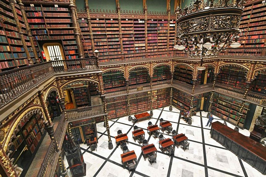 The library, which holds about 350,000 books, is today more a tourist attraction and selfie backdrop than a reading room.