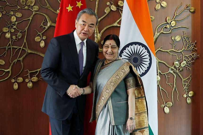 "Visiting Chinese Foreign Minister Wang Yi and India's External Affairs Minister Sushma Swaraj held talks last Friday, during which they agreed on ""10 pillars of cooperation""."