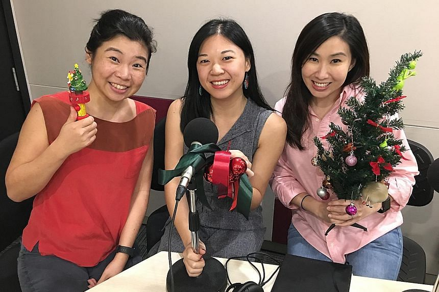 Life reporters (left) Melissa Sim, Yip Wai Yee and Rebecca Lynne Tan suggest to readers what to eat and watch.