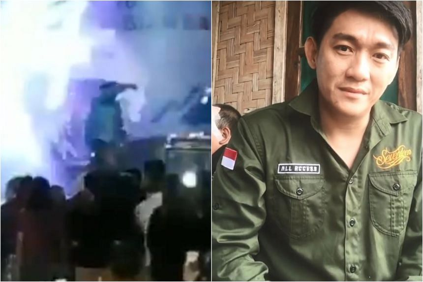 """Lead vocalist Riefian """"Ifan"""" Fajarsyah posted a video on Instagram looking distraught as he wiped away tears and asked for prayers for his wife, guitarist and drummer, who were all missing."""