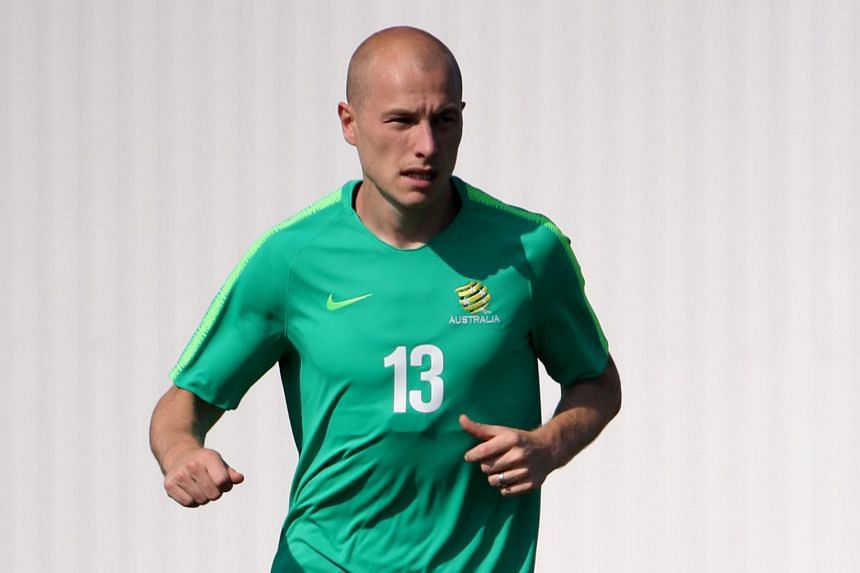 Australia's Aaron Mooy during a training camp in Sochi, Russia on June 25, 2018.