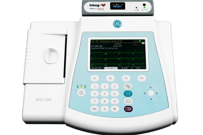 The start-up's ECG machine (above) encrypts a patient's results and sends them to a cloud, where a machine-learning algorithm interprets the data and forms a diagnosis in six minutes.