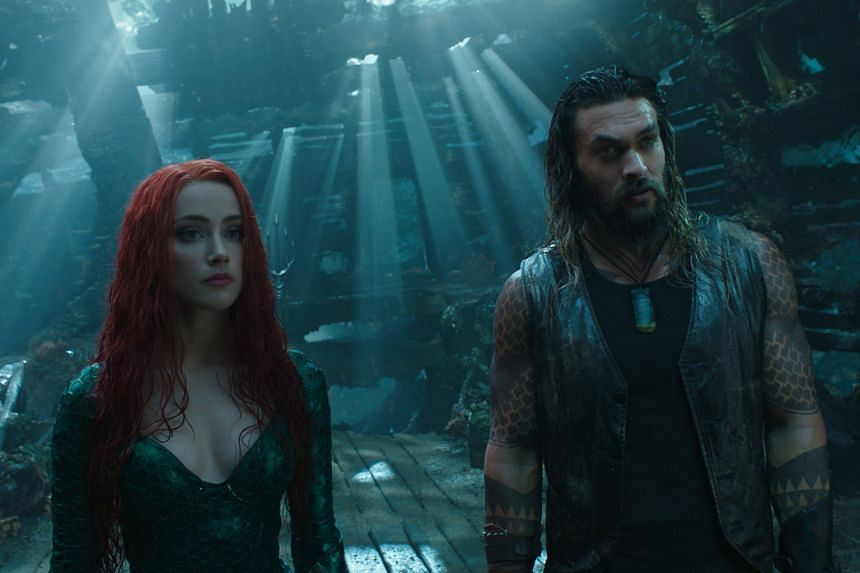 Amber Heard and Jason Momoa in Aquaman, which has amassed global box-office takings of US$482.8 million.