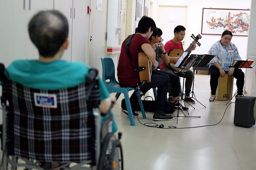 The Teng Ensemble performs at Dover Park Hospice as part of its Teng Gives Back programme.