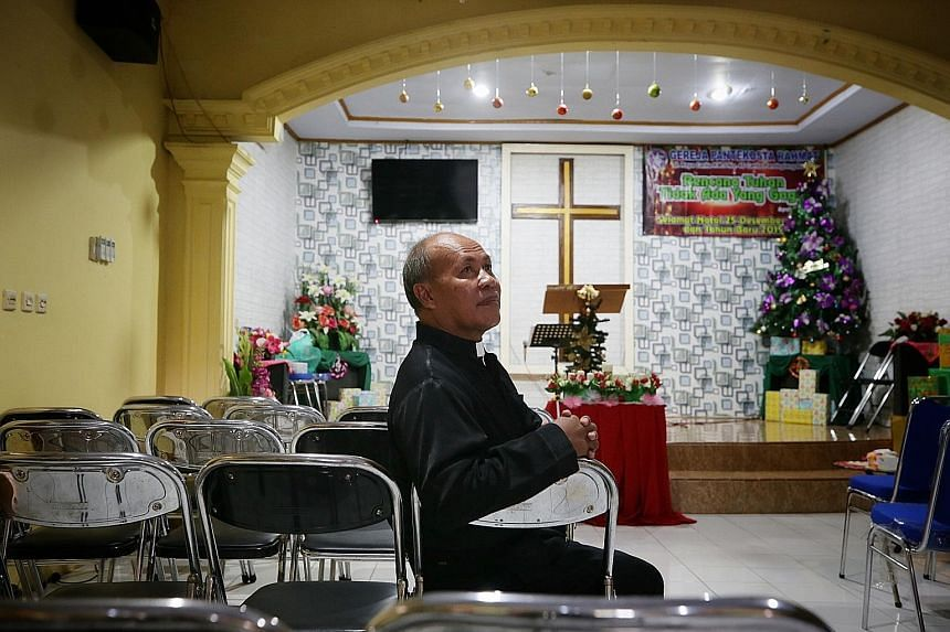 Pastor Markus Taekz of the Rahmat Carita church is relieved none of its 220-strong congregation suffered injuries in the tsunami.