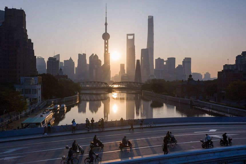 The skyline of Shanghai's Lujiazui Financial District of Pudong, on Nov 13, 2018.