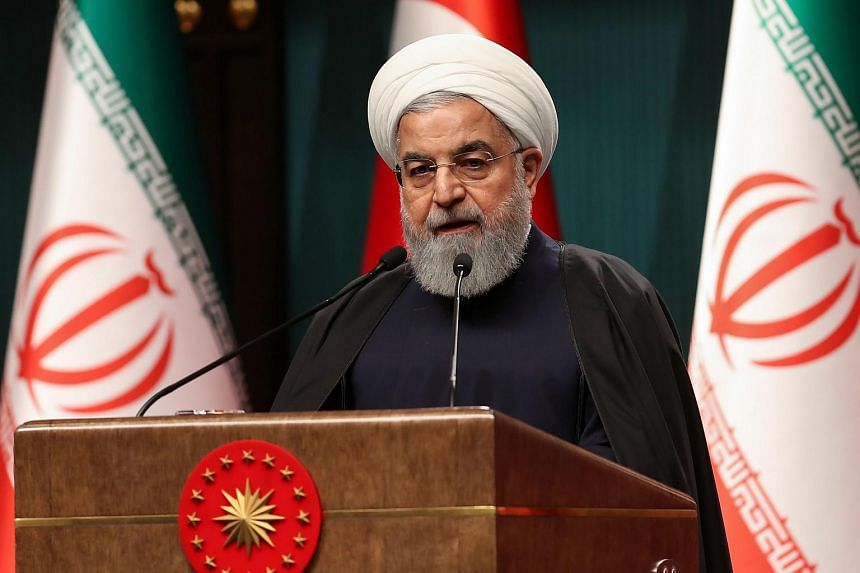 Iran's President Hassan Rouhani speaks during a press conference in Ankara, Turkey, on Dec 20, 2018.