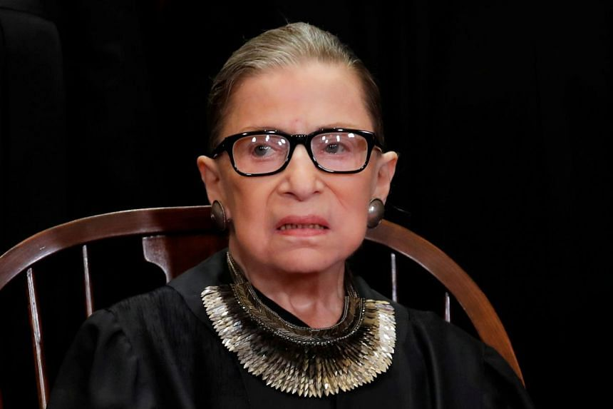 As the oldest Supreme Court justice, Ginsburg (above) is closely watched for any signs of deteriorating health.
