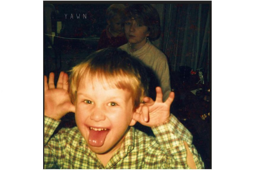 The album cover - an old photo of Daniel making a silly face with their po-faced babysitter and the musician as a toddler in the background - provides a foil to the wonderfully bathetic album title Yawn.