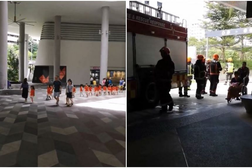 The 260 people were also evacuated prior to SCDF's arrival, after a fire alarm was sounded.