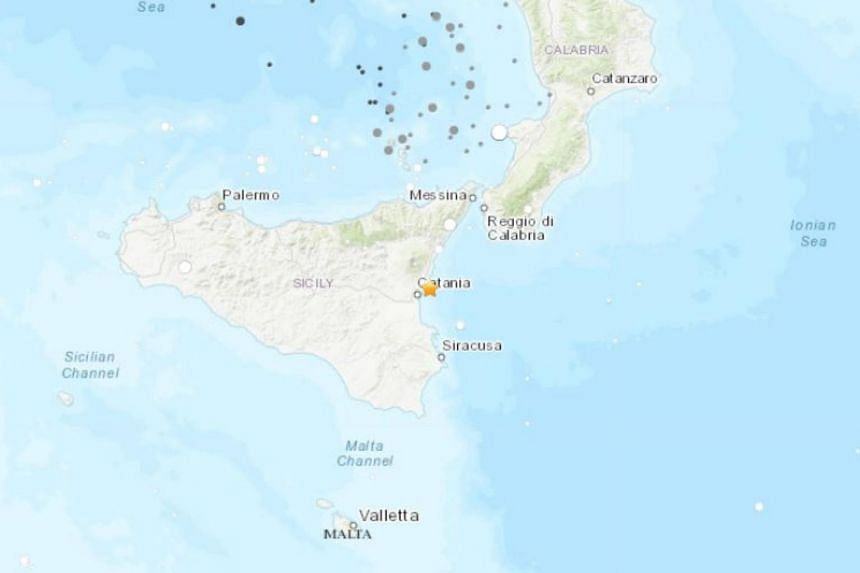 An earthquake measuring magnitude 4.8 hit the area north of Catania in Sicily, Italy on Dec 26, 2018.