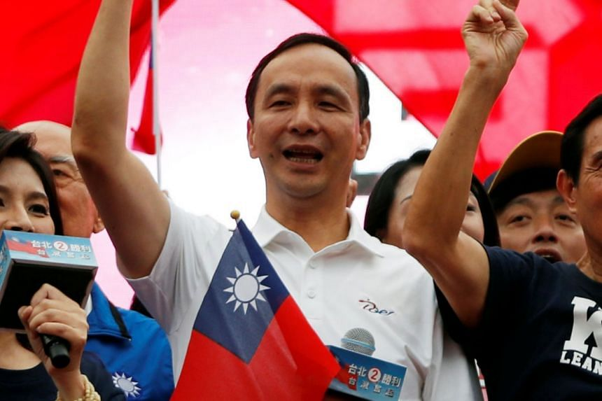 """Taiwan's opposition heavyweight Eric Chu said he wishes to """"better understand public opinion and to seek solutions to Taiwan's problems""""."""