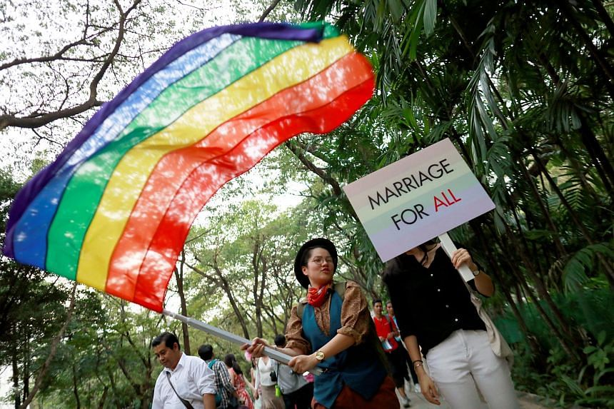 The Thai LGBT community participates in Gay Freedom Day Parade in Bangkok, Thailand on Nov 29, 2018.