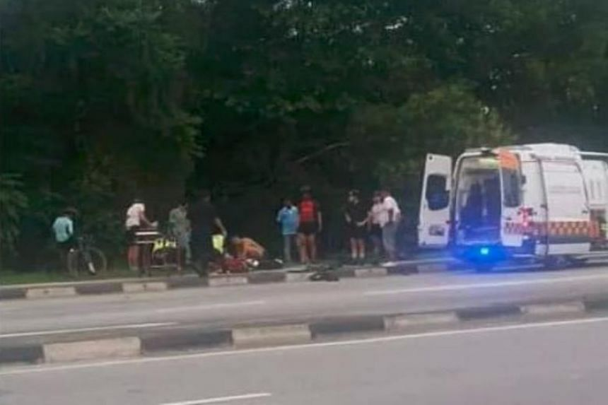 The police were alerted to an accident involving a car and a cyclist along Yishun Avenue 1 towards Lentor Avenue at 7.04am on Dec 25, 2018.