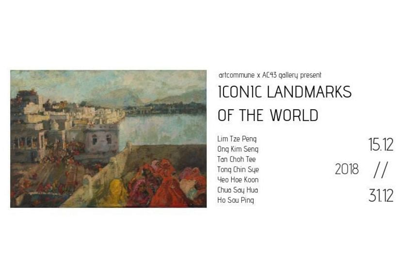 The Iconic Landmarks of the World exhibition will take place at the artcommune gallery till Dec 31.