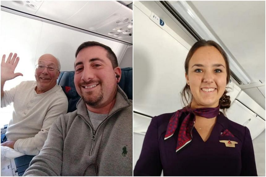 Facebook user Mike Levy shared that he sat next to the father, Hal Vaughan, on his flight home to Detroit in the mid-western state of Michigan. Mr Vaughan had flown on his flight attendant daughter Pierce's flights over Christmas Eve and Christmas so