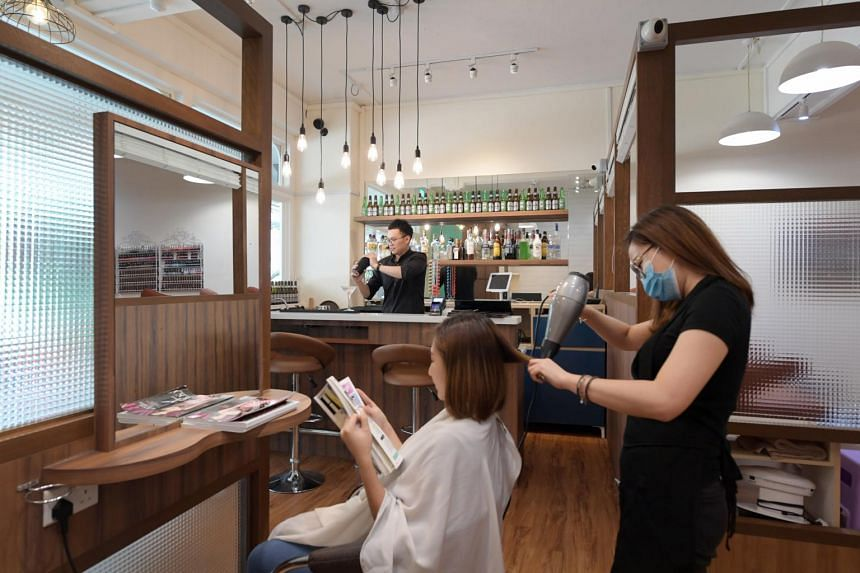 Neat Salon and Bar, housed in a 980 sq ft HDB shop unit in Yong Siak Street in Tiong Bahru, opened in June last year.