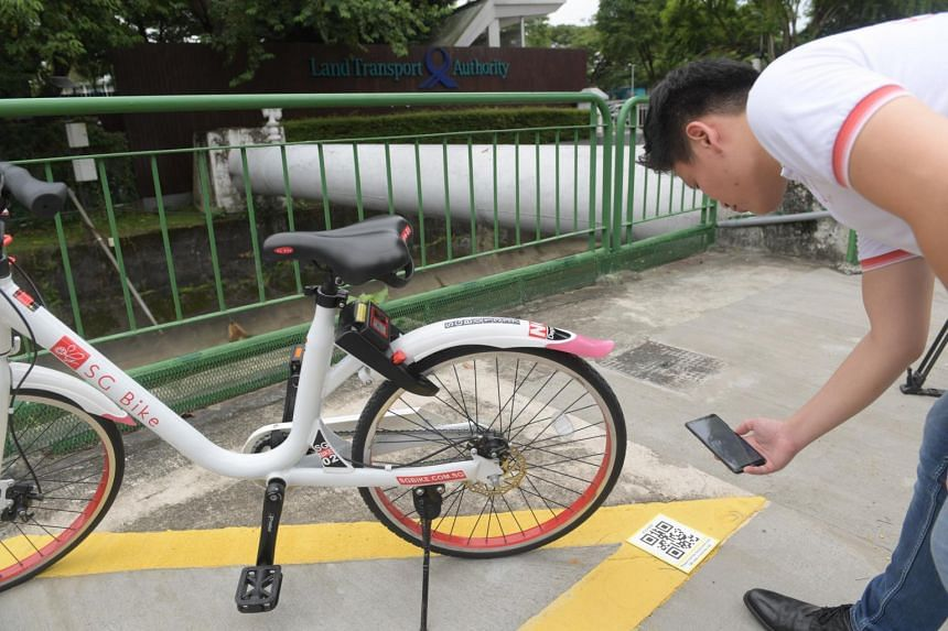 The QR codes can be found at all public bicycle parking areas, including yellow boxes and bicycle parking racks.