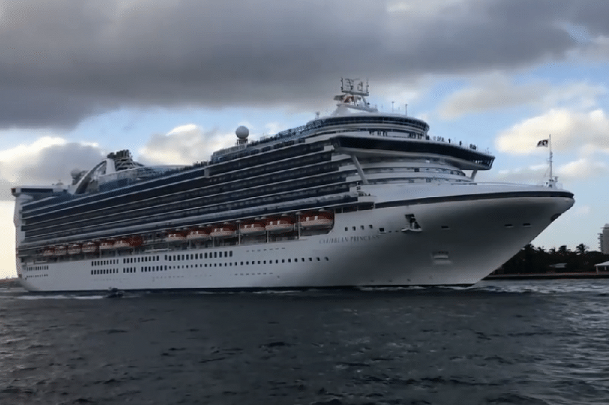 The Harmony of the Seas ship was travelling from its home port of Fort Lauderdale, Florida, to its first stop of St. Maarten island on its seven-day Caribbean itinerary.