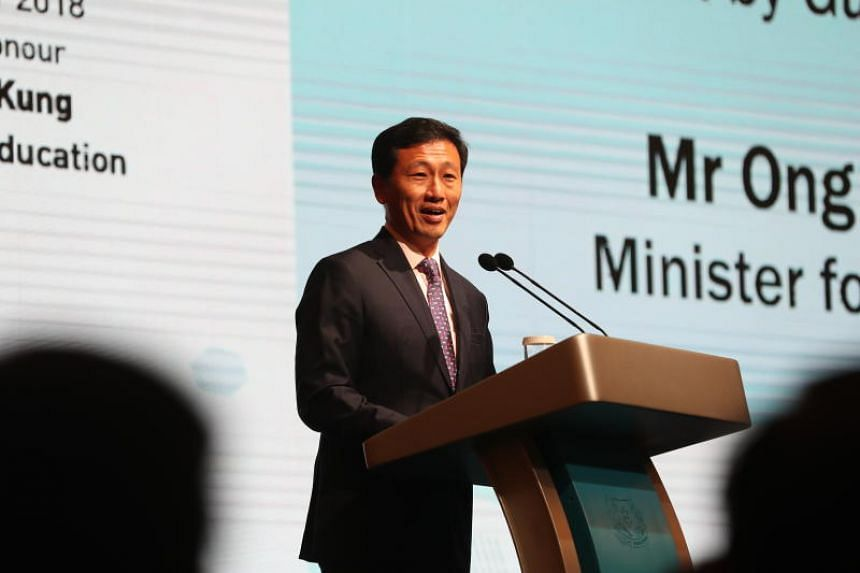 """Education Minister Ong Ye Kung said that students """"eligible for the popular secondary schools with the most stringent entry criteria"""" should be able to enter those schools if they want to."""