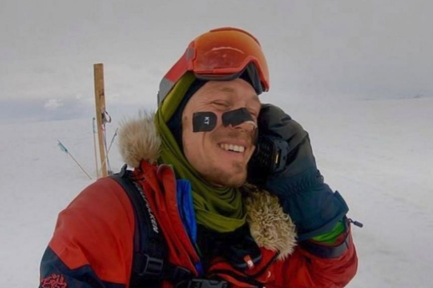 Mr Colin O'Brady reached the South Pole on Dec 12, the 40th day of his journey, after covering a total of 1480km.