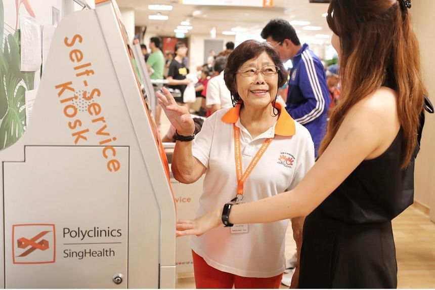 Thrice-weekly dialysis sessions have not stopped Madam Margaret Yeo from volunteering at Bedok Polyclinic.