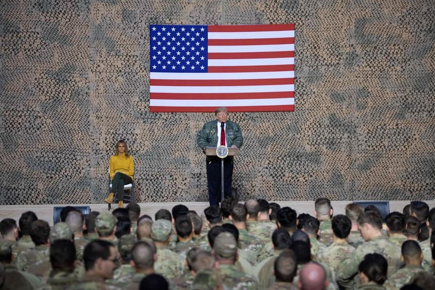President Donald Trump's visit comes amid a backdrop of escalating tensions between Washington and Teheran, as Washington seeks to counter Iran's sway in the Middle East.