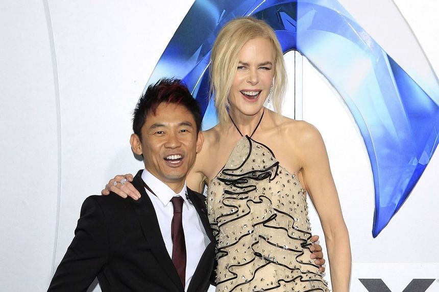 Director James Wan with Aquaman star Nicole Kidman at the world premiere of the movie in Hollywood earlier this month.