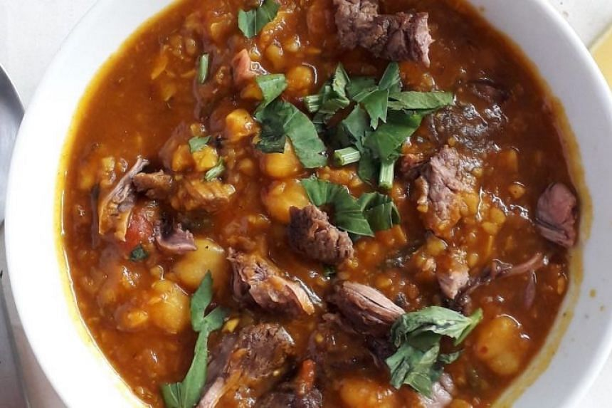 Make a Moroccan-style stew with leftover roast beef or lamb.