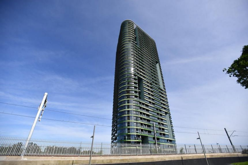 """Police and emergency services evacuated about 300 people in the 38-storey Opal Tower in the Sydney Olympic Park and other nearby buildings on Monday after reports of """"cracking noises""""."""