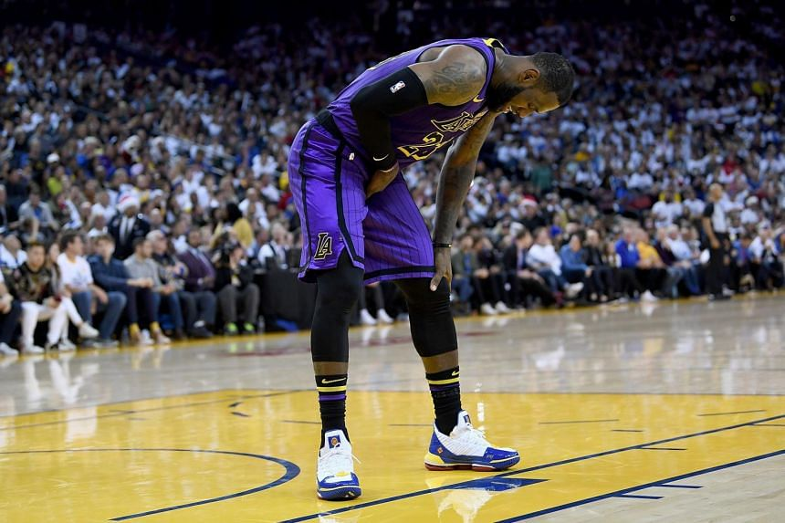 LeBron James suffered a strained groin during the Lakers' 127-101 blowout road win over the Golden State Warriors on Christmas Day.